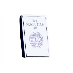 Lingote Plata fina de 50 gramos.