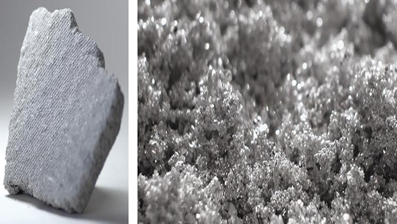 Granalla de plata o platino